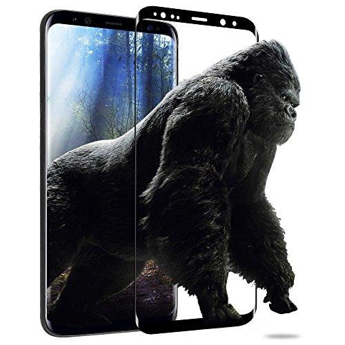Galaxy S9 ガラスフィルム memumi® サムスン ギャラクシーS9専用 強化ガラス 3D全面液晶保護フィルム「業界最高硬度9H / 指紋防止/気泡ゼロ/高感度タッチ / 極薄0.3mm」【日本製素材旭硝子製】 (Samsung Galaxy S9, ブラック)