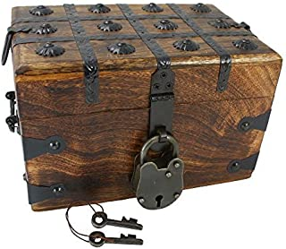 Well Pack Box Wooden Pirate Treasure Chest 8