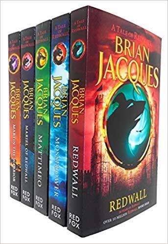 Brian Jacques Redwall Series 5 Books Collection Set (Redwall, Mossflower, Mattimeo, Mariel of Redwall & Martin the Warrior)