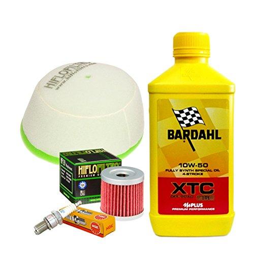 Tagliando Bardahl XTC 10W50 Off-Road filtro olio aria candela DR-Z 400