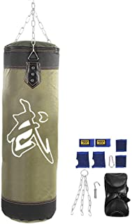 Punching Bag,Filled Wall Bracket Boxing Training MMA Heavy Punch Gloves Chain Muay Thai Kickboxing - Unfilled