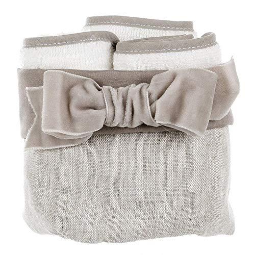 BLANC MARICLO Linen Bow A2657199PA - Cesto para toallas de algodón, 3 colores