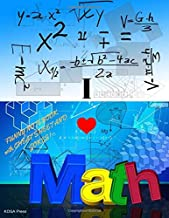 I Love Math. Funny Notebook with Cheat Sheet and Jokes!: Paper Composition Funny Notebook for Math. Grid 1/4 Inch Squares, 8.5 x 11 (large), Quad ... and math jokes! (Humorous Cover)