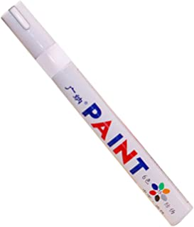 قلم تحديد ملون محمول لإطارات السيارة من كارفان طلاء مطاطي معدني دائم قلم تحديد جرافيتي زيتي لإصلاح الخدوش