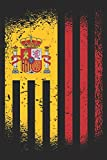Spain Flag Notebook: Beautiful Spain flags notebook in trim size 15,24 x 22,86 cm (6' x 9) with 120 checked pages