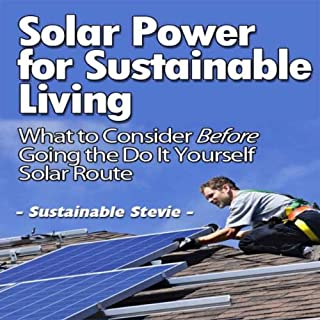 Solar Power for Sustainable Living audiobook cover art