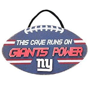 FOCO NFL New York Giants Football PowerWood, Team Colors, One Size