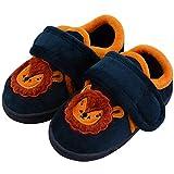LULEX - Zapatillas de estar por casa para ni帽o azul le贸n 7 UK Child