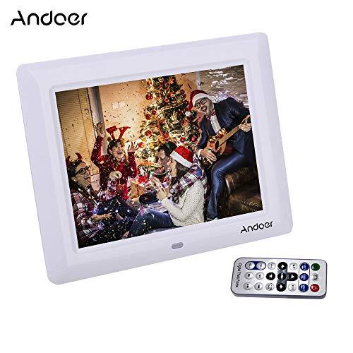 Cornice Foto Digitale Andoer 7 pollici HD TFT-LCD con sveglia lettore MP3 MP4 di film digitale movie player con desktop remoto