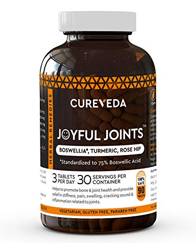 Cureveda™ Herbal Joyful Joint Support Supplement Tablets For Bone,Joint Wellness (90 Tablets)