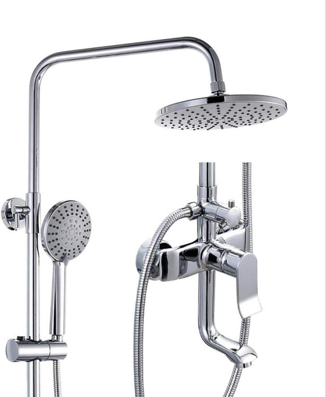 LWUDI Shower Systems with Rain Handheld, Bathroom brass Third gear Bathing Shower set, Multifunction Bathroom Shower Systems, shower head with filter,adjustable shower heads