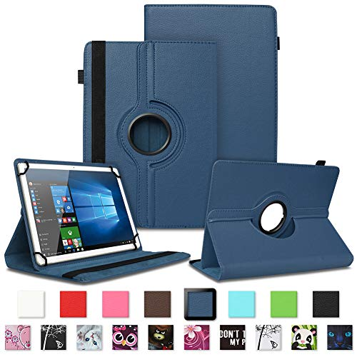 NAUC Lenovo Tab 2 A7-30 - 20-10 Schutzhülle Tasche Standfunktion Hülle Schutz Cover 360° Drehbar Universal Hülle hochwertiges Kunstleder, Farben:Blau