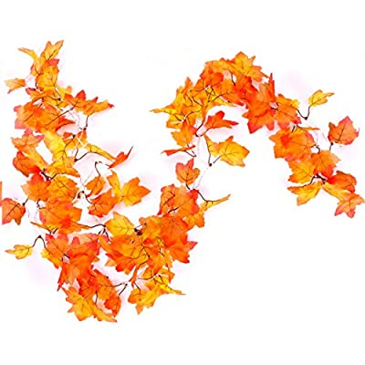 CPPSLEE Fall Decor for Home Thanksgiving Decorations Leaf Garland - Fall Decorations Thanksgiving Decor Lights, Waterproof Maple Leaf String Lights or Indoor Outdoor Home Thanksgiving