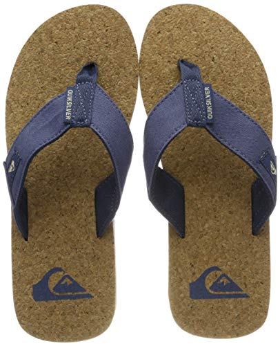 Quiksilver Herren Molokai Abyss Cork - Sandals for Men Zehentrenner Mehrfarbig (Brown/Blue Xbcb), 40 EU