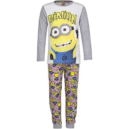 Minions Ich einfach Unverbesserlich Schlafanzug Girl Grau 116
