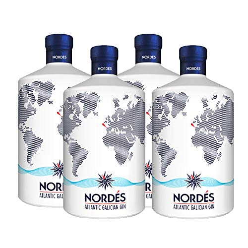 Ginebra Nordes de 70 cl - D.O. Galicia - Bodegas Osborne (Pack de 4 botellas)