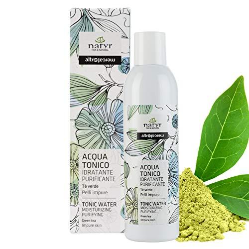 Natyr Gesichtstonikum mit grünem Tee gegen unreine und fettige Haut 200 ml - porenverfeinender Toner für einen frischen klaren Teint