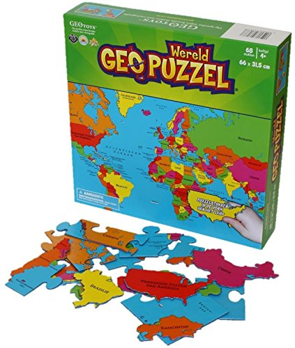GeoPuzzle Wereld 68 stukken (NL) 610 x 318 mm