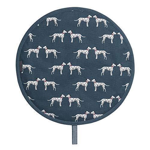 Sophie Allport Circular Single Hob Cover Dalmation 100% Cotton Hob Protector for Aga Ovens