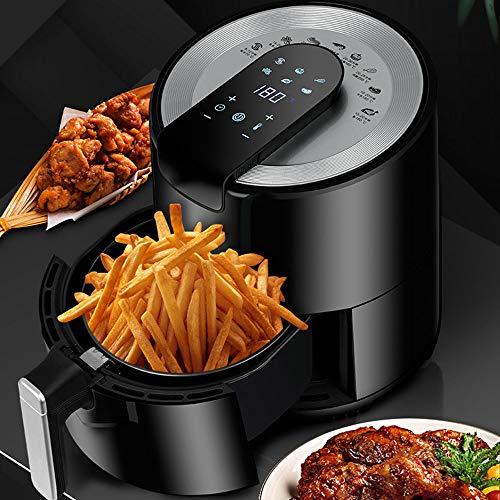 Freidora De Aire con Sistema De Circulación Rápida De Aire, Control De Temperatura Ajustable para Cocinar Sano Sin Aceite O con Poca Grasa, 1500 W, 5.5 litros, Negro