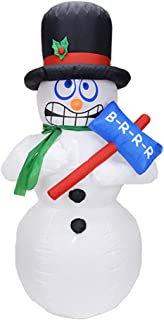 YHNUJMIK Christmas Ornament 1.8M Jitter Snowman Electric Inflatable Air Mold Courtyard Decoration Holiday Christmas
