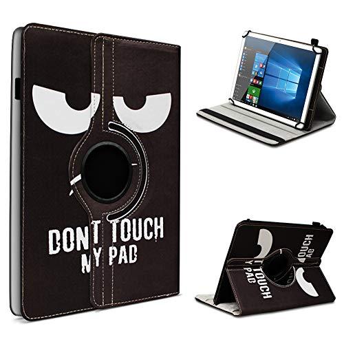 UC-Express Tablet Hülle kompatibel für Odys Space One 10 Tasche Schutzhülle Hülle Schutz Cover 360 Drehbar 10.1 Zoll, Farbe:Motiv 6