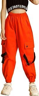 Pantalones Cargo para niños,Pantalones de chándal de Baile Hip Hop Callejero para niño y niña