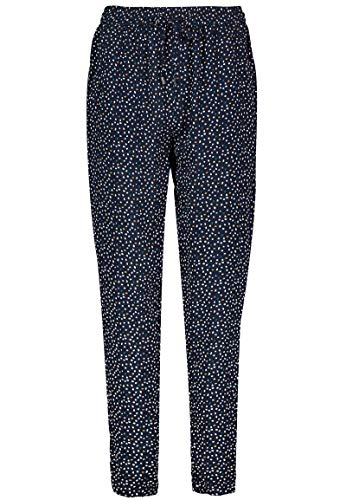 Sublevel Damen Stoff-Hose mit Gummibund & Muster Print Dark-Blue XL