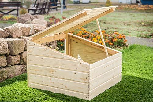 Mähroboter Garage aus Holz – Carport für Rasenroboter - 2