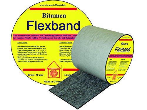 Bitumen Flex Dichtband 75 mm - Dehnbarkeit bis 30%