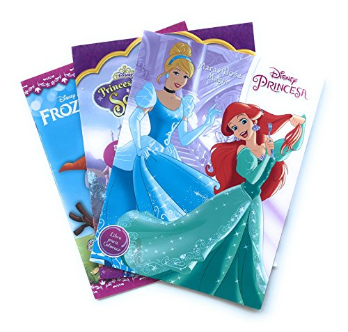 Princesas Disney, Princesa Sofia y Frozen Cuaderno para Colorear (Kit 3-en-1). Libros para Colorear de 16 páginas. Incluye todas las Princesas Ariel, Cenicienta, Rapunzel, Elsa, Anna y Princesita Sofía. Estimular Motricidad Fina. Entretenimiento y Aprendizaje Infantil. Kids Coloring Booklet Kit, Disney Princesses Coloring Book. Princess Sophia Coloring Book. Frozen Coloring Book.