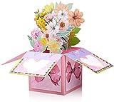 Handgemachte Pop Up Blumen Karten für alle Gelegenheiten