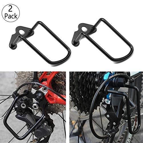 2 Pcs Desviador de la Bicicleta Protector, Hierro Guardia de Estancia para...