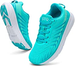 STQ Tennis Shoes for Women Comfort Cushioning Platform Sneakers with Arch Support Breathable Lightweight Athletic Shoes for Jogging Teal 6.5