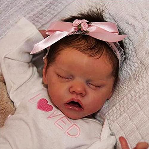 YANE Reborn Doll Neonata 18Inch Realistico Morbido Silicone Reborn Bambino Appena Nato Bambole del Bambino I Bambini A Partire dai 3 Vecchio