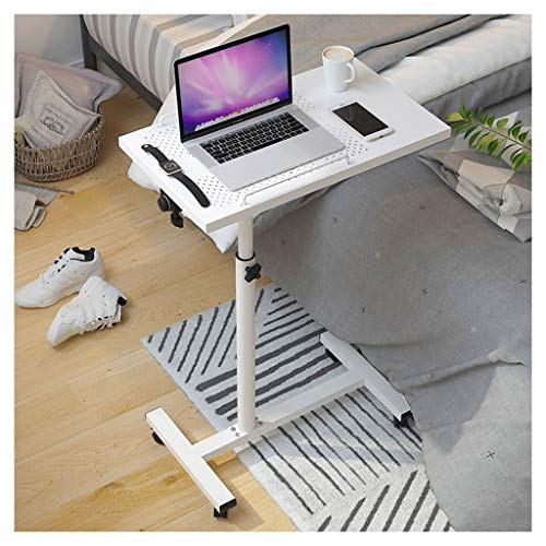 GYHUJI Lazy Bedside Table Bed Tray Bed Table Lazy Bedside Laptop Table Desktop Multifunctional And Practical Lightweight And Flexible (Color : White)