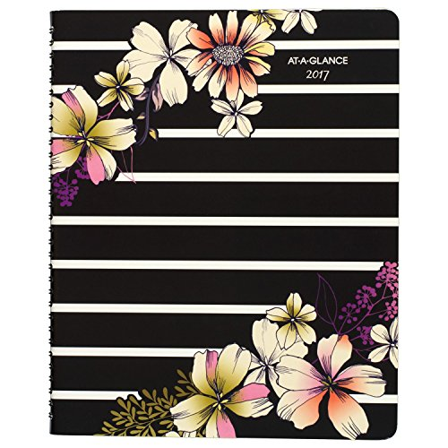"""AT-A-GLANCE Weekly / Monthly Appointment Book / Planner 2017, Premium, 8-1/2 x 11"""", Floral (578-905)"""
