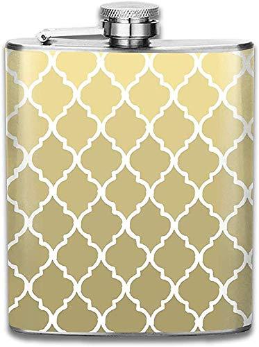 Kundengebundenes marokkanisches Muster-Gold u. Weiße Edelstahl-Wein-Flasche, personalisiertes Flaschen-Geschenk