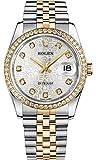 Rolex Datejust 36 Silver Jubilee Dial Yellow Rolesor Luxury Watch Ref. 116243