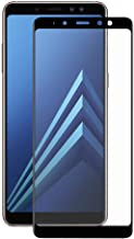 شاشة حماية أربعة الابعاد زجاجى من انيكس ل سامسونج جالكسي A8 بلس (2018) - أسود