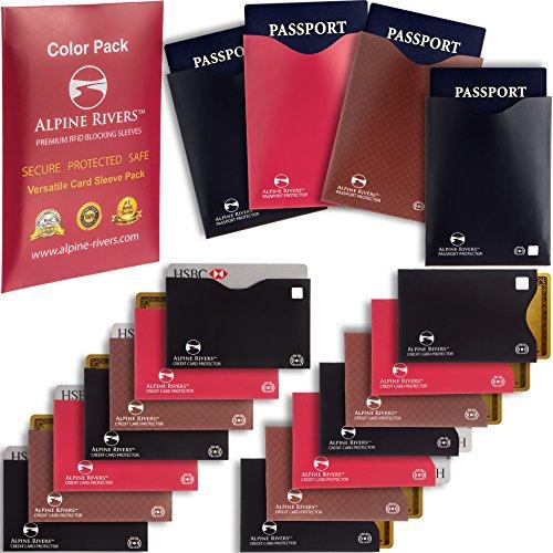18 RFID Blocking Sleeves  – 14 Credit Card Holders & 4 Passport Protectors
