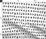 Spoonflower Stoff - Schreibmaschine ABC Kinder Kinderzimmer
