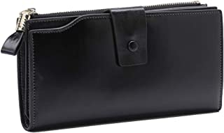 Women's RFID Blocking Wallet Soft Leather Clutch Money Ladies Purse Slim Card Holder Organizer Zip Pocket