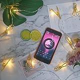 Foto cadena de lámpara de clip de pared LED pequeñas luces de colores decoración cumpleaños colgante luces colgantes, 3 m 20 luz estilo USB, tamaño libre