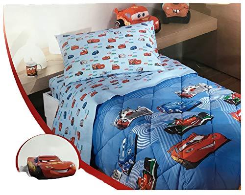 Disney By Caleffi Trapunta Cars Team 95 Azzurro Singolo