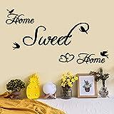 Topgrowth Adesivi Murali Removibile Decalcomanie Murali Wall Sticker Frasi Adesive Murali Home Sweet Home