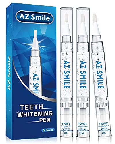 AZ Smile Teeth Whitening Pen, Non-Sensitive Teeth Whitening Gel for Teeth Whitener, Teeth Whitening Kit, 30+ Uses, Effective, Painless, Natural, Helps to Remove Smoking, Coffee, Soda