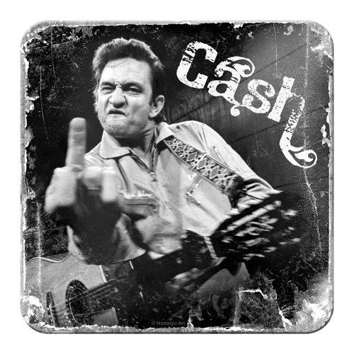 Nostalgic-Art 46138 Celebrities Johnn Cash, Finger, Untersetzer