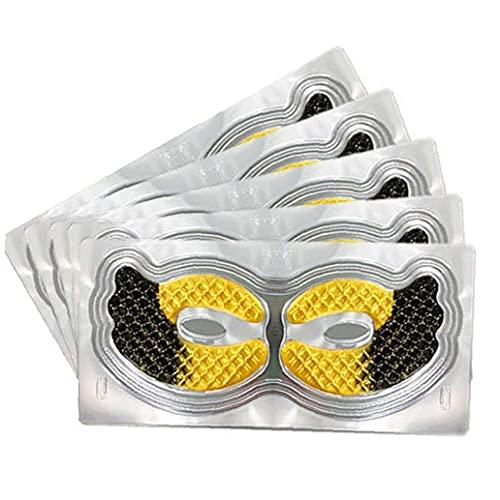 Hainice Piel Pistas del Ojo del Oro del colágeno Cuidado Ojos Anti-envejecimiento Saludable Hidratante ojeras Remover 5Pads