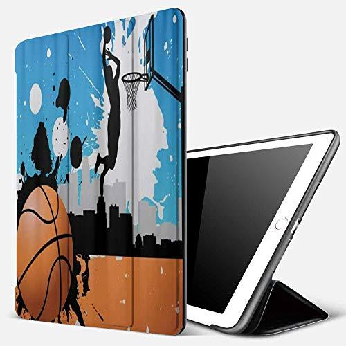 Qinniii Carcasa con Magnetic Auto-Sueño,Jugador de Pelota de Baloncesto,Ligéra Protectora Suave Silicona TPU Smart Cover Case para iPad 5./6.